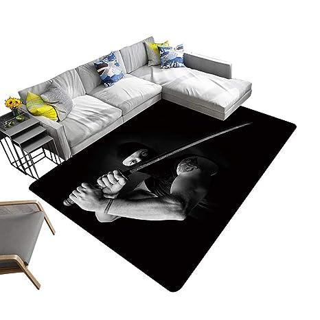 Amazon.com: alsohome Non-Slip Area Rug Pad Portrait of ...