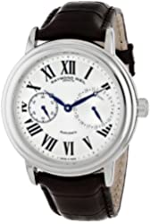 Raymond Weil Men's 2846-STC-00659 Maestro Stainless Steel Watch with Synthetic Leather Band