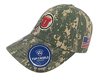 Top of the World Utah Utes TOW Digital Camouflage Flagship Adjustable Slouch Hat Cap from Top of the World