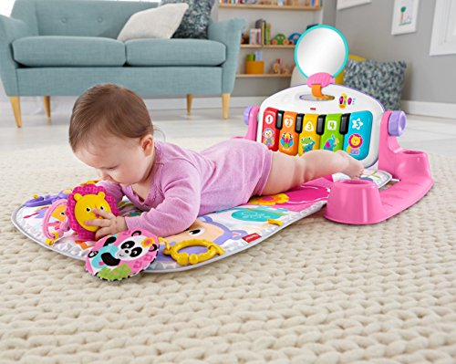 51C lB3ThnL - Fisher-Price Deluxe Kick 'n Play Piano Gym, Pink