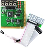 Optimal Shop 4 Digit PCI and ISA PC Computer Motherboard Analyzer Tester Diagnostic Debug POST Card External Display