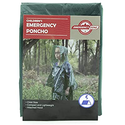 Children's Emergency Poncho, Weather Protection, Rain Gear, Emergency Zone