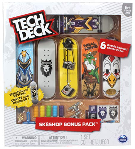 Tech Deck Finesse Skateboards Sk8shop Bonus Pack with 6 Fingerboards