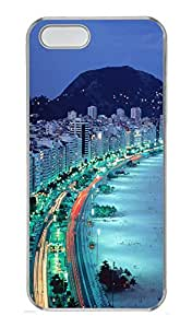 iPhone 5S Case Brazilian Beach By The Night PC Custom iPhone 5/5S Case Cover Transparent