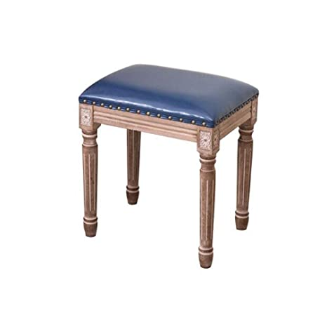 Remarkable Amazon Com Qiqi Life American Solid Wood Vanity Stool Caraccident5 Cool Chair Designs And Ideas Caraccident5Info