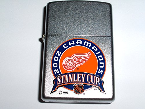 Zippo NHL 2002 Stanley Cup Champions Detroit Red Wings Lighter