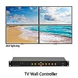 2X2 TV Wall Controller 1URack TV Splice Box Support1080P HDMI+VGA+AV+USB LED/LCD Image Processor Screen Splicing