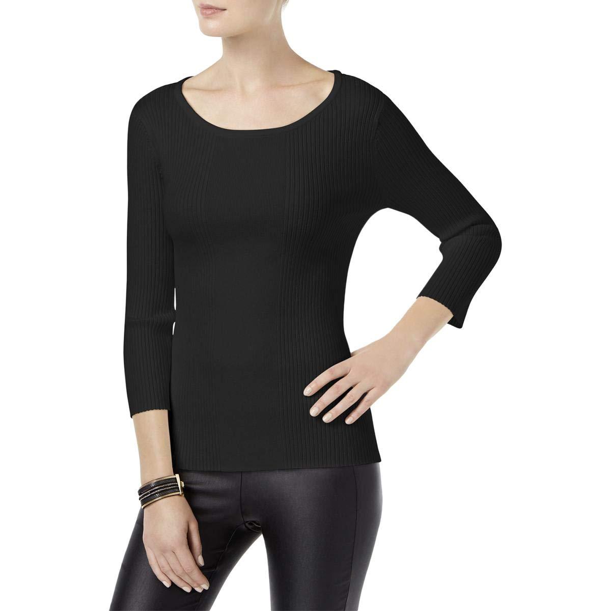 Deepblack INC Womens Cpinkrt Back Knit Sweater