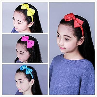 7Rainbows Girls Boutique Grosgrain Ribbon Headband with Bows