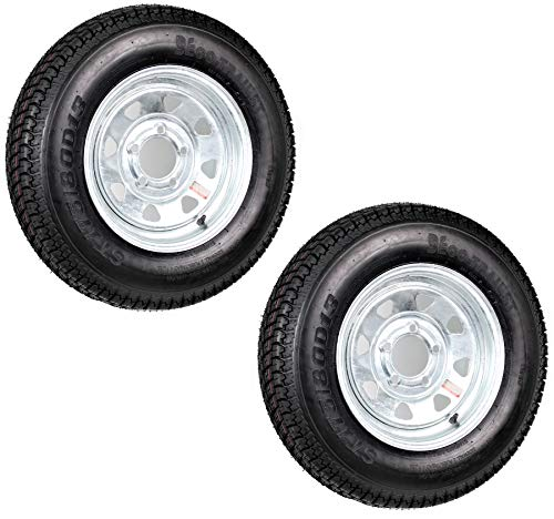eCustomRim 2-Pk Eco Trailer Tire & Rim ST175/80D13 13