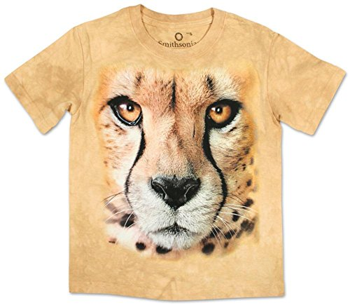 Tan Boys Shirt (The Mountain Cotton Bf Cheetah Endanger Design Novelty Youth T-Shirt (Tan, M))