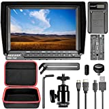 Neewer NW760 Camera Field Monitor Kit Ultra-thin 7 inches IPS Screen 1080P Full HD 1920x1200 Support 4k Input with 2600 mAh Li-ion Battery and USB Charger, Carrying Case for Nikon Canon Sony DSLRs