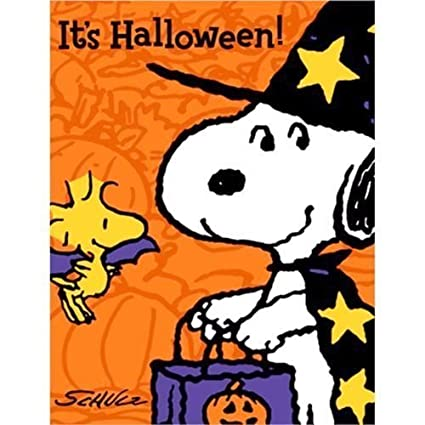 amazon com peanuts snoopy halloween invitations w envelopes 8ct