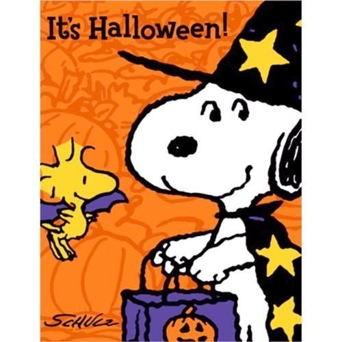 Peanuts Snoopy Halloween Invitations w / Envelopes (8ct)]()