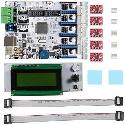 LWQJP 3DプリンターマザーボードGT2560 + LCD2004キット+ A4988ドライバの3Dプリンターアクセサリー