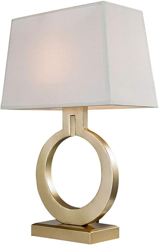 Lámparas de Noche Lámpara de Mesa Dorada con Botones de la Sala ...