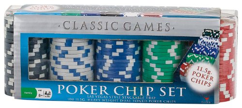 100 Ct. Poker Chips Set 11.5 gram (styles will vary)