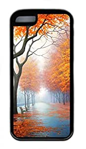 iPhone 5c case, Cute Beautiful Autumn iPhone 5c Cover, iPhone 5c Cases, Soft Black iPhone 5c Covers