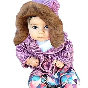 Amazon.com: Jieson Toddler Baby Girl Boy Warm Coat Fur
