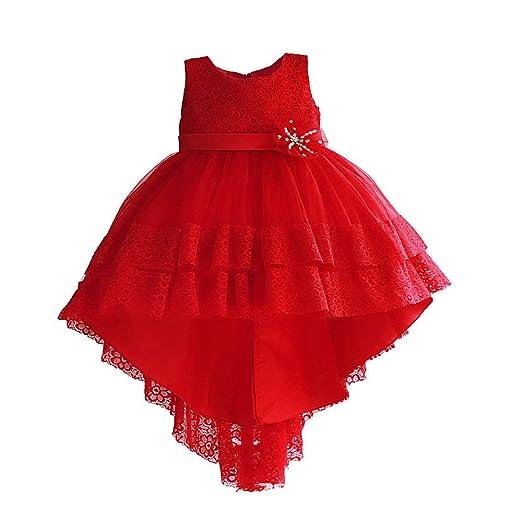 Peggy Gu Vestido de niña Niños Falda Trajes Cumpleaños Fiesta ...