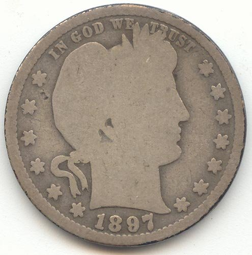 1897 S Barber Quarter Good (1897 Coin)