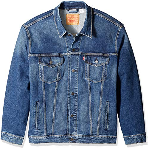 (Levi's Men's Tall Big & Tall Trucker Jacket Colusa/Stretch 3XL)