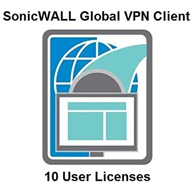 SonicWALL | 01-SSC-5311 | SonicWALL Global VPN Client for Windows - License for use with TZ/NSA/Legacy TZ Series Firewalls - 10 User Licenses 01-SSC-5311