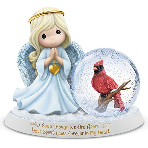 The Hamilton Collection Precious Moments Even Though We are Apart, Your Spirit Lives Forever in My Heart Angel Figurine