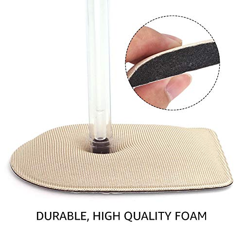 Dr. Foot\'s Foam Heel Cushion Inserts for Plantar Fasciitis, Soft Bone Spur Relief Pads, Shock Absorbing Protectors for Men and Women 2 Pairs