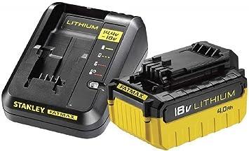 STANLEY FATMAX FMC694M1-QW - Pack Cargador de 2Ah con 1 batería de litio 18V de 4Ah: Amazon.es: Bricolaje y herramientas