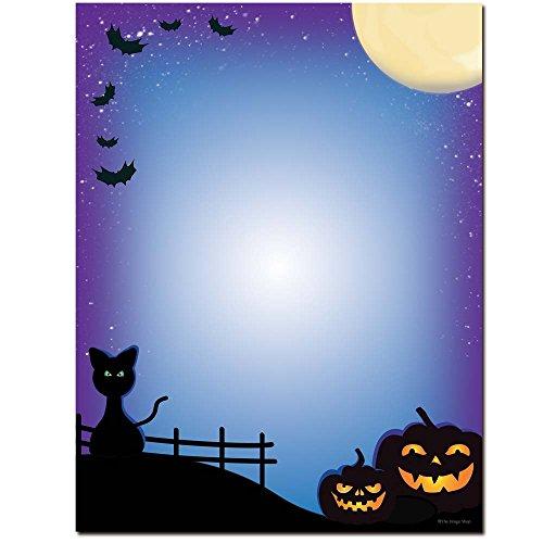All Hallows' Eve Halloween Letterhead Laser & Inkjet Printer Paper, 100 -