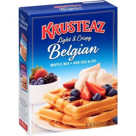 Krusteaz Belgian Waffle Mix, 28 oz, 2 pk by Krusteaz