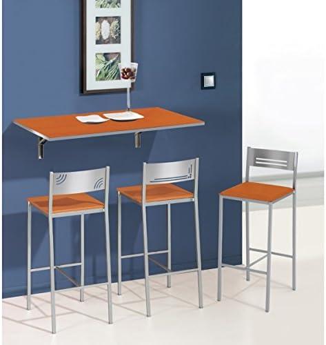 SHIITO Mesa de Cocina abatible de Pared 90x50 cm con Tapa de ...