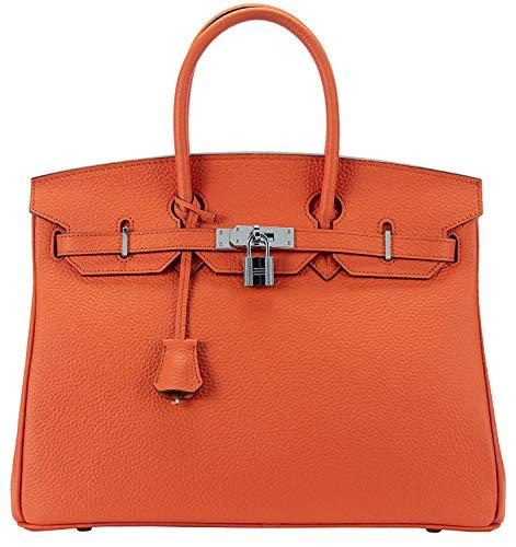 Women's Handbags Ladies Genuine Leather Handle Shoulder Handbags Strap Organizer Crossbody Handbags with Gold Hardware by GAOAG (Image #7)
