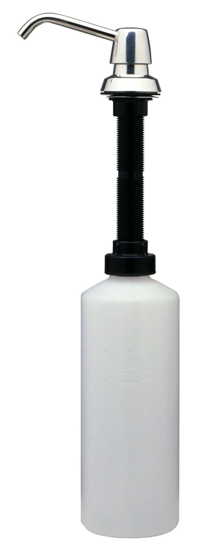 Bobrick B-822 Lavatory-Mounted Soap Dispenser, Stainless Steel