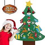beautiful christmas decorations VEEYOL Felt Christmas Tree for Kids - DIY Christmas Tree with 26 Pcs Ornaments - Wall Hanging Xmas Gifts Christmas Decorations