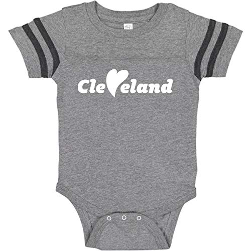 inktastic - Cleveland Infant Creeper 24 Months Football Heather and Smoke 26e8a