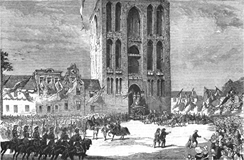 (NETHERLANDS. The University Fete at Utrecht - 1881 - old antique vintage print - engraving art picture prints of Netherlands Education - The Graphic)