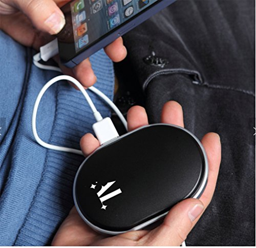 Rechargeable Hand Warmers with Display 5600mAh Power Bank Pocket Portable USB Electric Warmer Reusable Double-sided Heating Mobile External Battery Charger Best Gift in Winter for Grandma Women Man