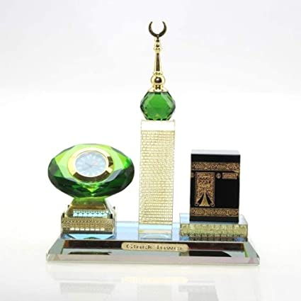 Amazon NEWQZ Muslim Kaaba 3 Piece Set Car Accessories Muslims Gifts Islamic Desktop Ornaments Decoration Model Home Table Decor Kitchen