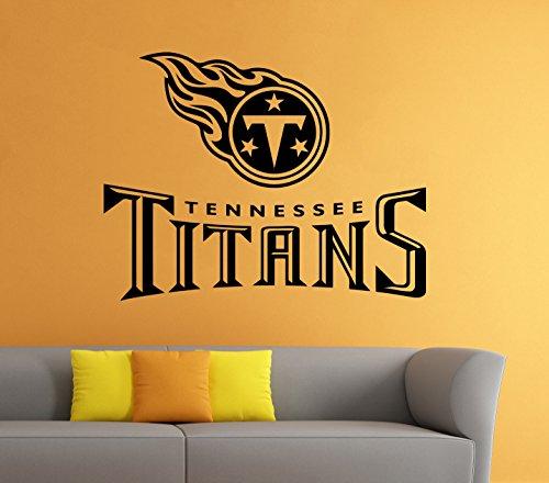 Poster Logo Sports (Tennessee Titans Wall Vinyl Decal Sticker NFL Emblem Football Team Logo Sport Poster Home Interior Removable Decor)