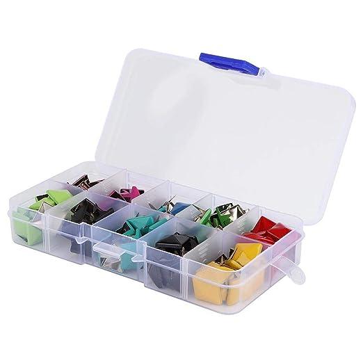 KEYREN Cabezal de Clavo con Botones de Metal, botón de presión con Caja para Ropa, Zapatos, Bolsas, Accesorios: Amazon.es: Hogar