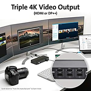 Kensington SD4900P Triple 4k Display Docking Station for Windows, MacBooks and Surface; 135W USB-C & USB-A Hybrid Dock (K36800NA)