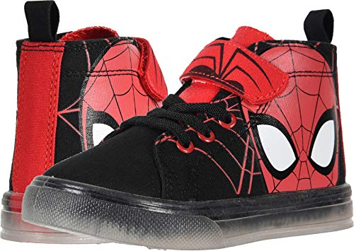 Spiderman Canvas Hi Top Sneaker/Shoes Toddler/Little Kid Red/Black (11 M US Little Kid)