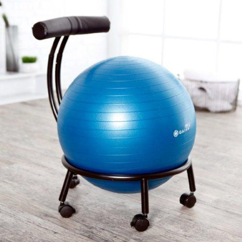 Stability Ball Office: Gaiam Adjustable Custom-Fit Balance Ball Chair, Stability