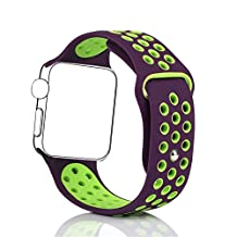 BillionPair Silicone Bands for Apple Watch, Replacement Smart Watch Accessories Bracelet, iWatch Strap, Sport Style Wristband, 38mm / 42mm, for Both Series 1 and Series 2