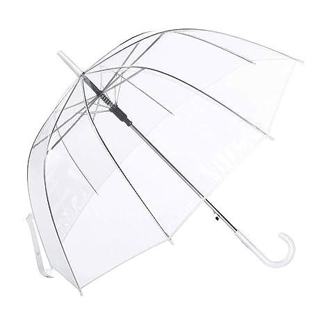Paraguas Cúpula Transparente Mujer. Paraguas Vogue Burbuja Infantil, Paraguas Original Largo, Niño y