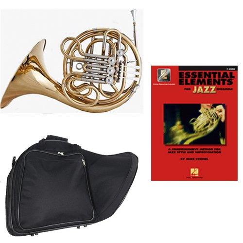 Band Directors Choice Double French Horn Key of F/Bb - Essential Elements for Jazz Ensemble Pack; Includes Intermediate French Horn, Case, Accessories & Essential Elements for Jazz Ensemble Book by Double French Horn Packs