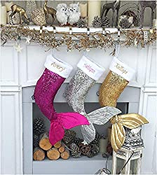 Christmas Stocking with Sequin