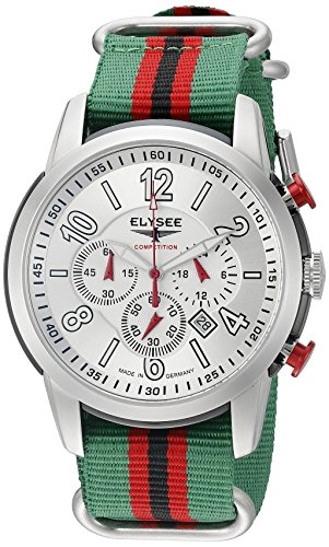 ELYSEE Men's 80523 Competition Analog Display Quartz Multi-Color Watch